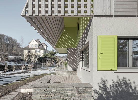 Umbau Einfamilienhaus Albisrieden, Zürich. Sitzplatz